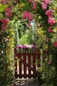 Bagsiden af blomsterboden