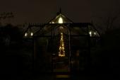 Orangeri med julebelysning