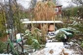 Køkkenhaven med sne