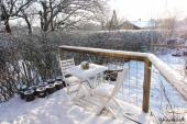 Sne på syd-terrassen